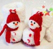 Пинетки снеговички