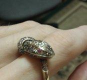 Золотое кольцо и подвеска(змея)