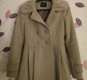 Пальто серое размер S