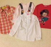 Кофточки и рубашечки для девочки