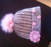 Зимняя шапочка на девочку 10-15 лет.