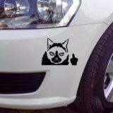 Стикер на авто сердитый кот