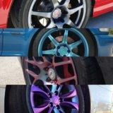 Покраска дисков полимерами любые цвета