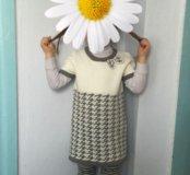 Трикотажное платье.машинная вязка