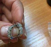Серьги белое золото бриллианты