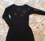 Платье черное трикотаж Италия