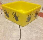 Миска для грызунов желтая