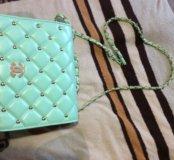 Сумка сумочка клатч мята