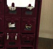 Кольца серьги с бриллиантами белое золото