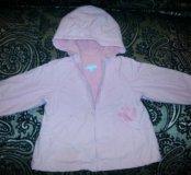 Куртка ветровка розовая на 18 месяцев