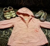 Обувь 21 размера и куртка ветровка на 18 месяцев