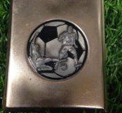 Портсигар с эмблемой футбол