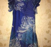 Коктельное платье насыщенного синего цвета 💙