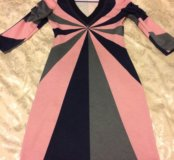 Платье разноцветное плотное