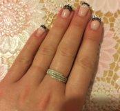 Кольцо с бриллиантами золото 585, размер 17