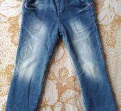 Утепленные джинсы р. 98