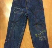 Тёплые джинсы с флисом