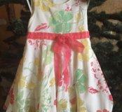Платье нарядное х/б на подкладке