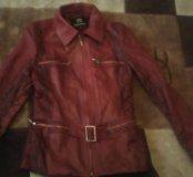 Кожаная куртка р-р 40-42