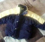 Тёплая зимняя куртка на 3-4 года
