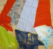 3 шейных платка + 4 шарфика