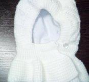 Шапка-шлем для новорожденной