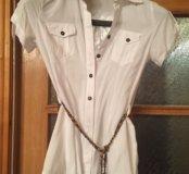 Блуза - рубашка с поясом