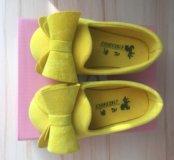 Туфельки детские бархатные