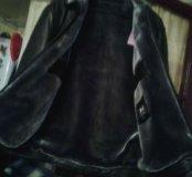 Курточка эко-кожа,новая с стриженой овчиной.