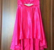 Платье с шлейфом, атлас