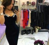 Шикарное платье . Велюр