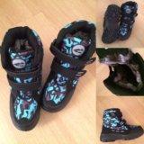 Зимние ботинки на липучках