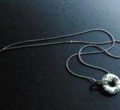 Серебряная цепочка и кулон / серебряная подвеска