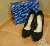 Туфли замшевые Alfavit, р 38