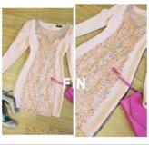 Платье шикарное с блёстками цвет розовой пудры