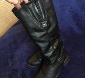 Зимние кожаные сапоги Rieker