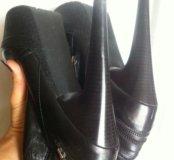 Шикарные кожаные сапоги