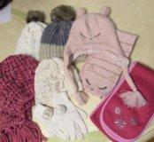 Зимние аксессуары для девочки от 5-и лет и старше