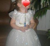 Шикарное новогоднее платье для принцессы