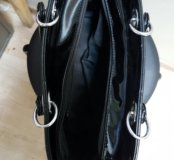 Лаковая,черная сумка