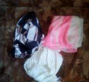 Шарф,платок,косынка,платок розовый -500 рублей