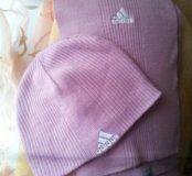 Шапка+шарф(комплект )