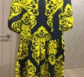 Стильное яркое платье