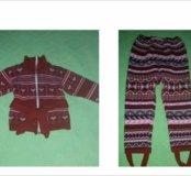 Тёплые кофточка и штанишки для девочки. На 2-3 г.