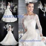 Новое свадебное платье с рукавами