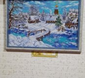 Картина из бисера в рамке под стеклом