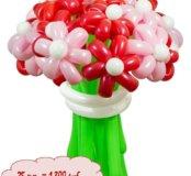 Букет цветов из воздушных шаров