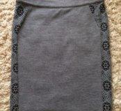 Трикотажная юбка L