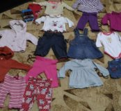 Модные вещи на малышку до 68см