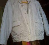 Куртка белая почти даром.